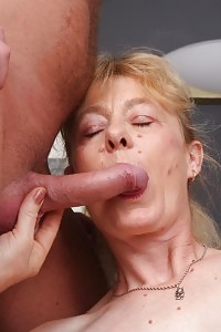 Skillful mature angel Maria wetting a prick and rides on top of it to take it in her hairy box